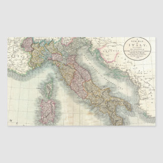 Vintage Map of Italy (1799) Rectangular Sticker