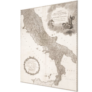 Vintage Map of Italy (1808) Canvas Print