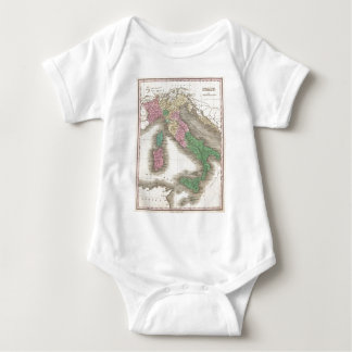 Vintage Map of Italy (1827) Baby Bodysuit