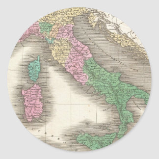 Vintage Map of Italy (1827) Classic Round Sticker