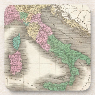Vintage Map of Italy (1827) Drink Coaster