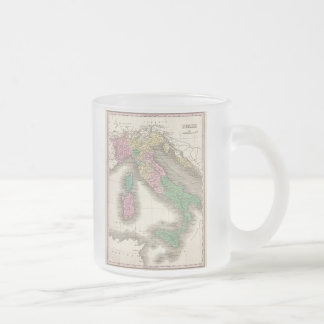 Vintage Map of Italy (1827) Frosted Glass Coffee Mug