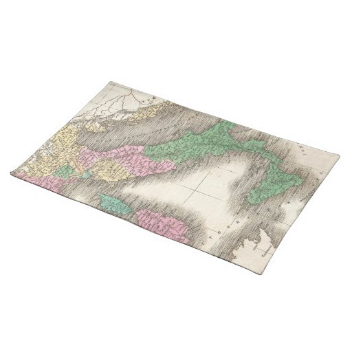 Vintage Map of Italy (1827) Placemats
