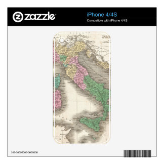 Vintage Map of Italy (1827) iPhone 4 Decals
