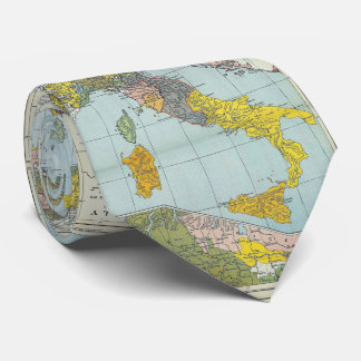 Vintage Map of Italy (1912) Tie