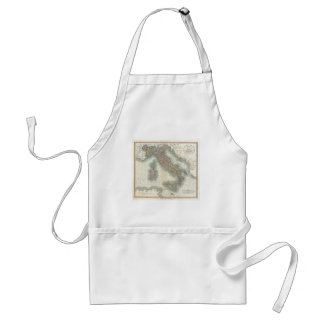 Vintage Map of Italy Adult Apron
