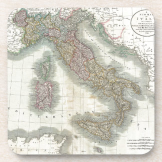 Vintage Map of Italy Beverage Coaster