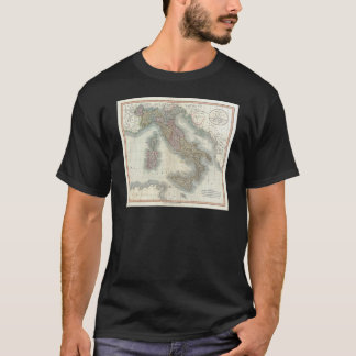 Vintage Map of Italy T-Shirt