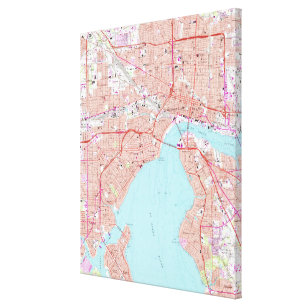 picture regarding Printable Map of Jacksonville Fl known as Classic Jacksonville Map Posters Picture Prints Zazzle