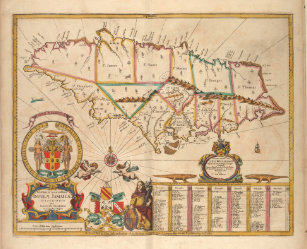 Map Of Jamaica Art Wall Décor Zazzle - Vintage map of jamaica