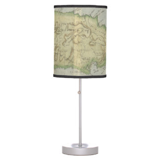 Vintage Map of Jamaica (1780) Table Lamps