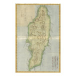 Vintage Map of Jamaica (1780) Personalized Stationery
