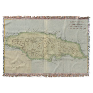 Vintage Map of Jamaica (1780) Throw