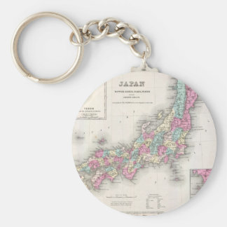 Vintage Map of Japan (1855) Basic Round Button Keychain