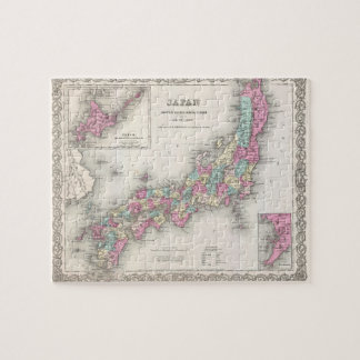 Vintage Map of Japan (1855) Jigsaw Puzzles