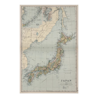 Japan Map Posters Zazzle - Japan map poster