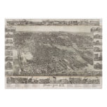 Vintage Map of Jersey City NJ (1883) Poster