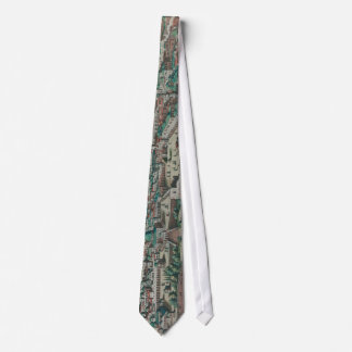 Vintage Map of Jerusalem, Nazareth and Rame Israel Neck Tie