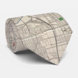 Vintage Map of Kansas City (1893) Tie