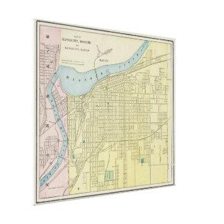 Vintage Map of Kansas City Missouri (1901) Canvas Print
