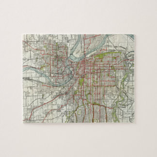 Vintage Map of Kansas City Missouri (1920) Jigsaw Puzzle