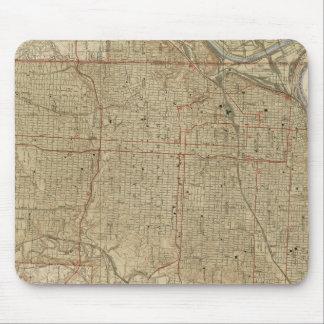 Vintage Map of Kansas City Missouri (1935) Mouse Pad