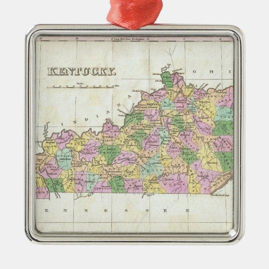 Vintage Map of Kentucky (1827) Metal Ornament