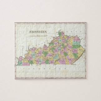 Vintage Map of Kentucky (1827) Puzzles