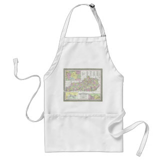 Vintage Map of Kentucky (1850) Adult Apron