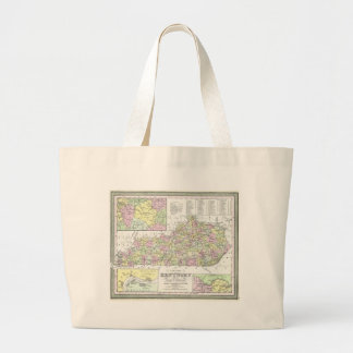 Vintage Map of Kentucky (1850) Bags