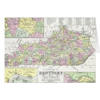 Vintage Map of Kentucky (1850) Greeting Card