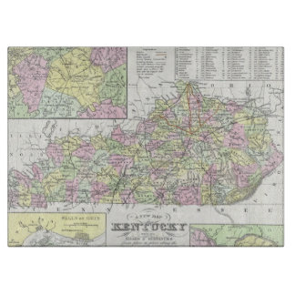Vintage Map of Kentucky (1850) Cutting Board
