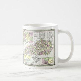 Vintage Map of Kentucky (1850) Classic White Coffee Mug