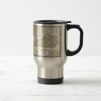 Vintage Map of Kentucky (1850) 15 Oz Stainless Steel Travel Mug