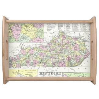 Vintage Map of Kentucky (1850) Food Tray