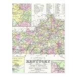 Vintage Map of Kentucky (1850) Postcards
