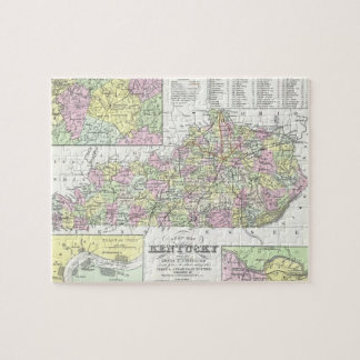 Vintage Map of Kentucky (1850) Puzzle