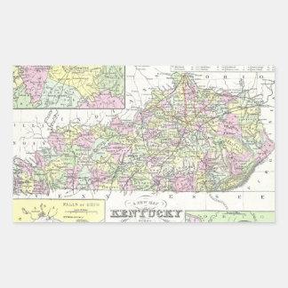 Vintage Map of Kentucky (1850) Rectangular Sticker