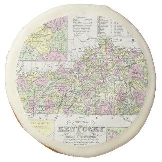 Vintage Map of Kentucky (1850) Sugar Cookie