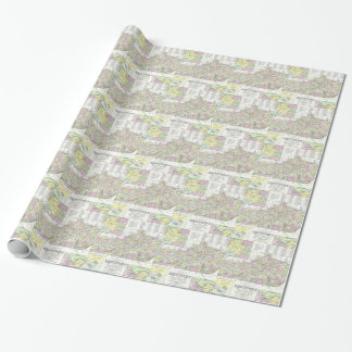Vintage Map of Kentucky (1850) Gift Wrapping Paper
