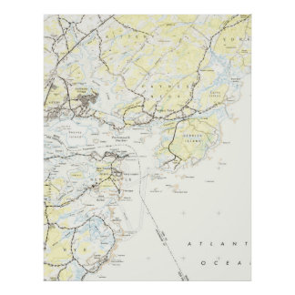 Vintage Map of Kittery Maine (1944) Poster