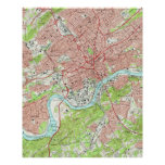 Vintage Map of Knoxville Tennessee (1966) Poster