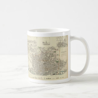 Vintage Map of Liverpool England (1836) Coffee Mug