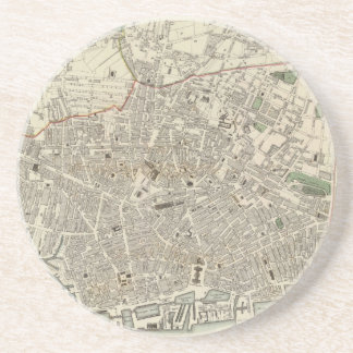 Vintage Map of Liverpool England (1836) Drink Coaster