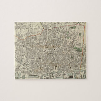 Vintage Map of Liverpool England (1836) Jigsaw Puzzle