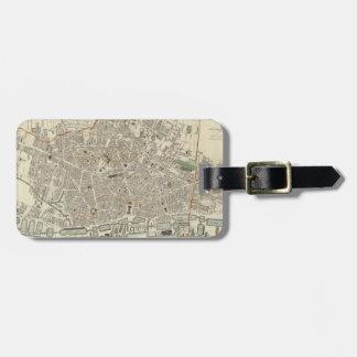 Vintage Map of Liverpool England 1836 Travel Bag Tags