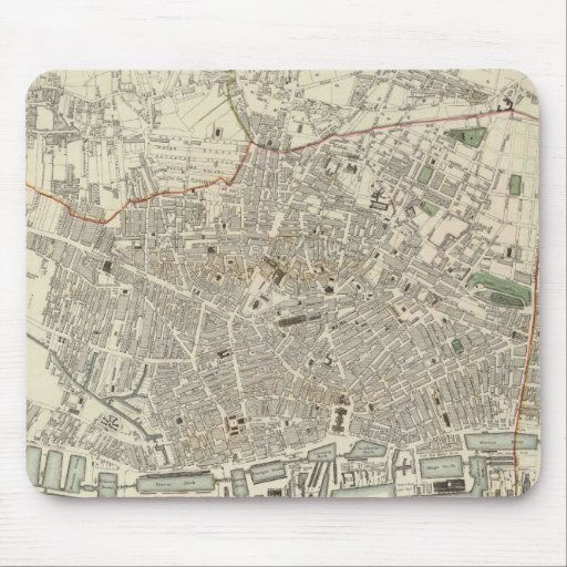Vintage Map of Liverpool England (1836) Mouse Pad