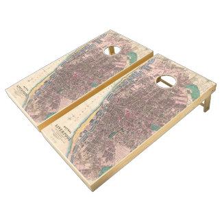 Vintage Map of Liverpool England (1890) Cornhole Set