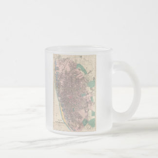 Vintage Map of Liverpool England (1890) Frosted Glass Coffee Mug