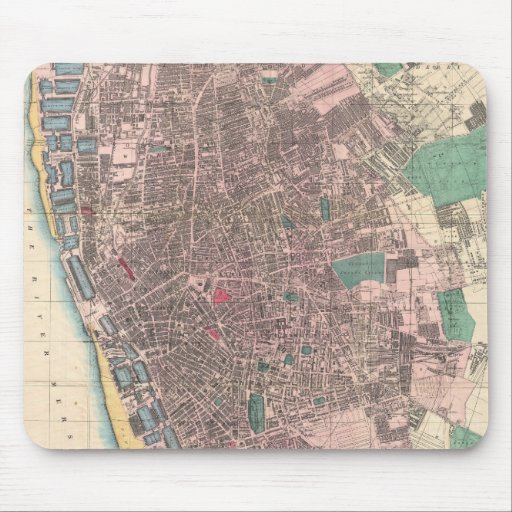 Vintage Map of Liverpool England (1890) Mouse Pad